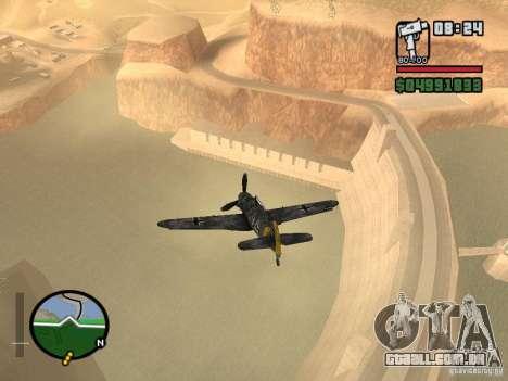 BF-109 G-16 para GTA San Andreas vista direita