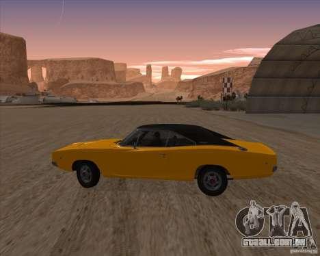 Dodge Charger RT 1968 Bullit clone para GTA San Andreas esquerda vista