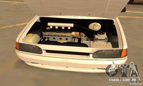 Estilo de Dag 2114 Ваз para GTA San Andreas vista interior