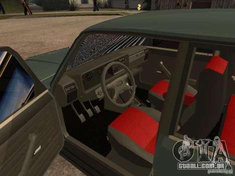ВАЗ 21074 para GTA San Andreas vista traseira