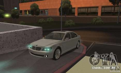 Lâmpadas de néon cor para GTA San Andreas segunda tela