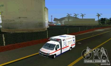 RTW Ambulance para GTA Vice City vista traseira esquerda