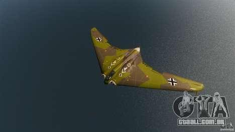 Horten H-IX para GTA 4 esquerda vista