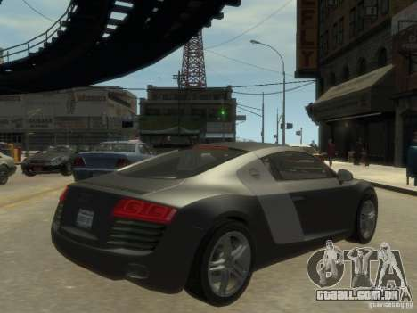 Audi R8 NFS Shift para GTA 4 vista direita