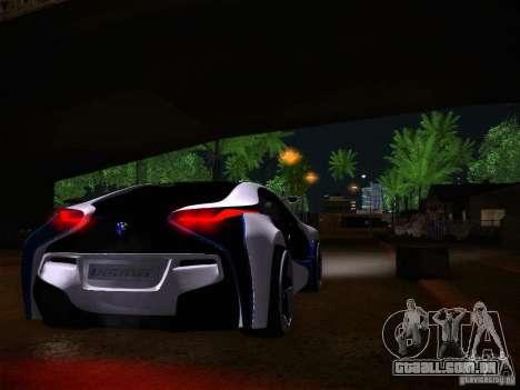 BMW Vision Efficient Dynamics I8 para GTA San Andreas vista traseira