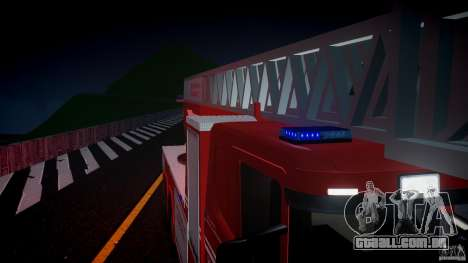 Scania Fire Ladder v1.1 Emerglights blue [ELS] para GTA 4 vista inferior