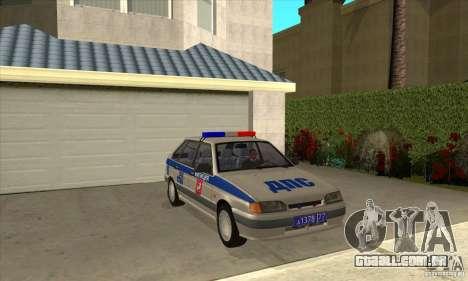 DPS DE ВАЗ 2114 para GTA San Andreas vista traseira