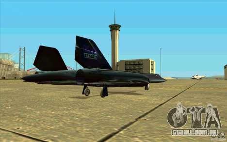 SR-71A BLACKBIRD BETA para GTA San Andreas vista interior