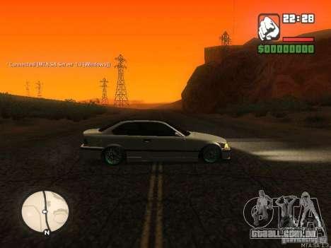 BMW E36 Tuning para GTA San Andreas esquerda vista