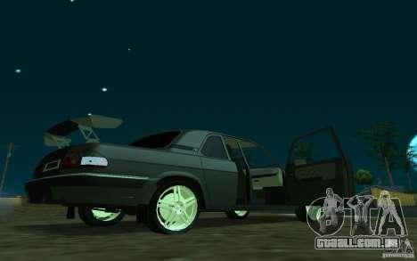 GAZ 31105 coupe para GTA San Andreas traseira esquerda vista