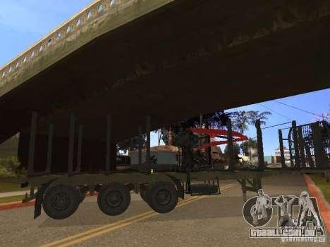 Reboque MAZ 99864 para GTA San Andreas vista direita