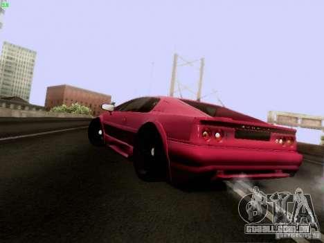 Lotus Esprit V8 para GTA San Andreas traseira esquerda vista