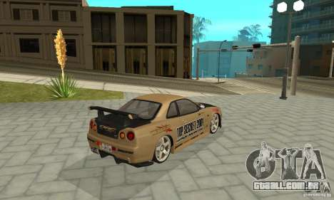 Nissan Skyline R-34 GTR para as rodas de GTA San Andreas
