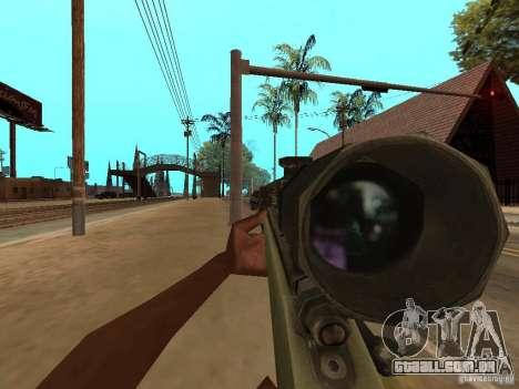 M40A3 para GTA San Andreas terceira tela