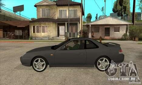 Honda Prelude SiR para GTA San Andreas esquerda vista