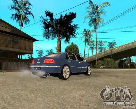 Volkswagen Phaeton para GTA San Andreas traseira esquerda vista