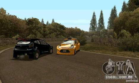 Ford Fiesta Rally para GTA San Andreas vista direita