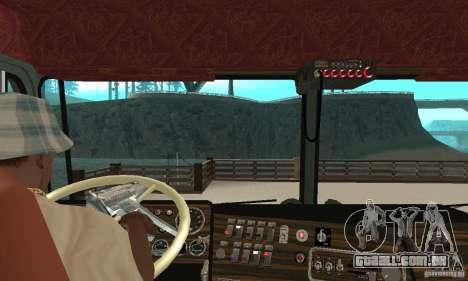 Kenworth K100 USA Standard para GTA San Andreas vista direita