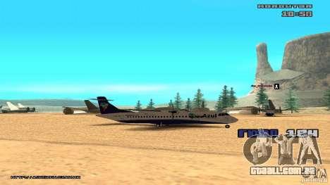 ATR 72-500 Air Azul para GTA San Andreas traseira esquerda vista