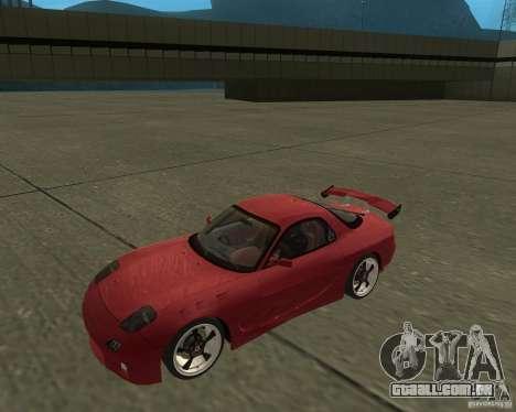 Mazda RX-7 weapon war para GTA San Andreas