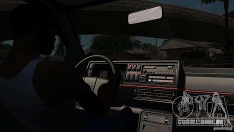 VW Golf 2 para GTA San Andreas vista superior