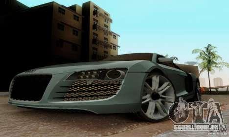 Audi R8 LeMans para GTA San Andreas esquerda vista