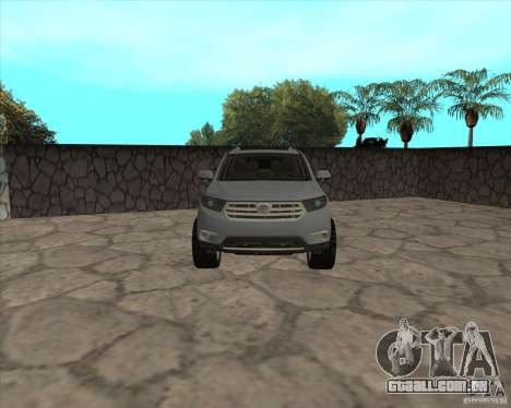 Toyota Highlander para GTA San Andreas vista direita