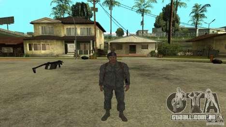 Shepard de CoD MW2 para GTA San Andreas quinto tela