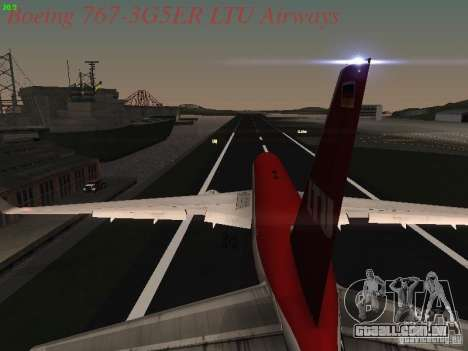 Boeing 767-3G5ER LTU Airways para GTA San Andreas vista superior