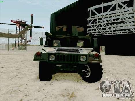Hummer H1 para GTA San Andreas vista traseira