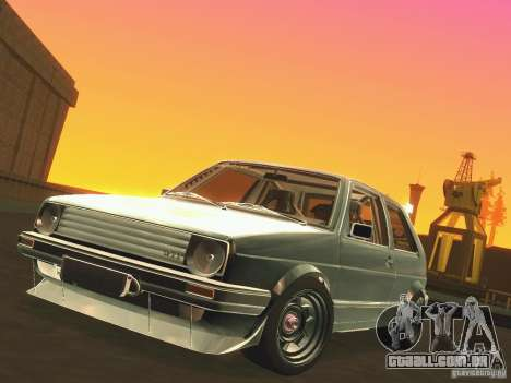 Volkswagen Golf MkII Racing para GTA San Andreas vista interior