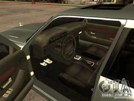 HD Mafia Sentinel para GTA San Andreas traseira esquerda vista