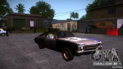 Chevrolet Chevelle SS DC para GTA San Andreas vista traseira