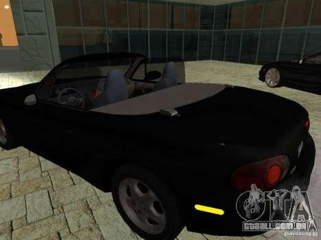 Mazda MX5 Miata para GTA San Andreas vista traseira