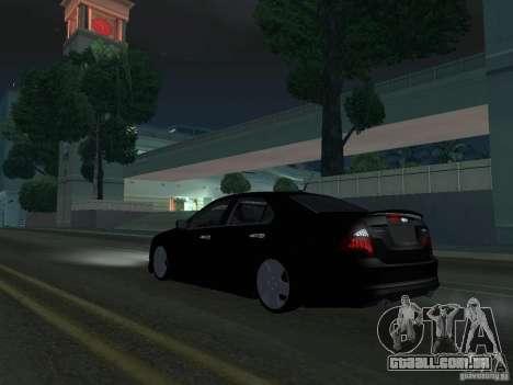 Ford Fusion para GTA San Andreas traseira esquerda vista