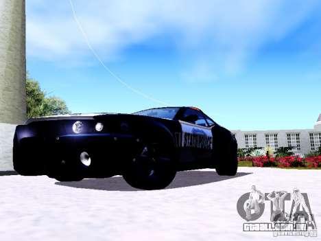 NFS Undercover Cop Car MUS para GTA San Andreas esquerda vista