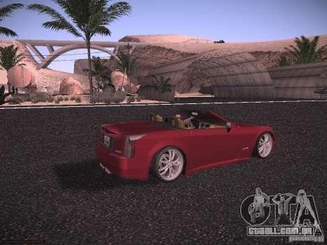 Cadillac XLR 2006 para GTA San Andreas traseira esquerda vista