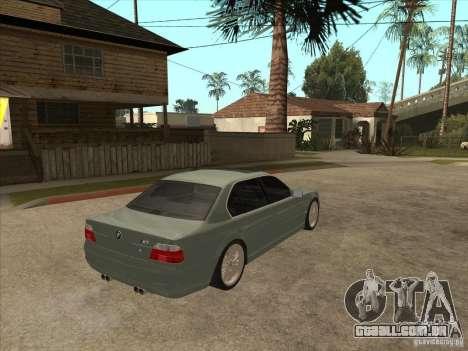 BMW E38 M7 para GTA San Andreas vista direita