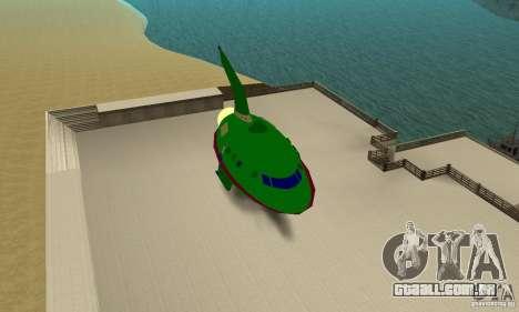 Planet Express para GTA San Andreas traseira esquerda vista
