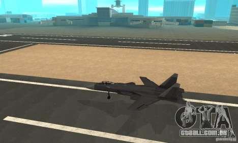Su-47 berkut Defolt para GTA San Andreas esquerda vista