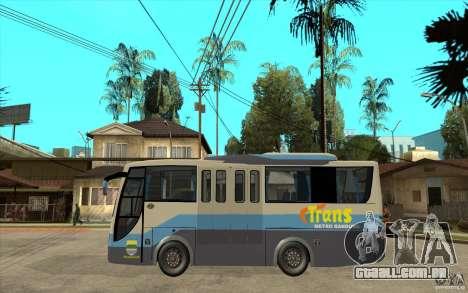 Hino Evo C para GTA San Andreas esquerda vista