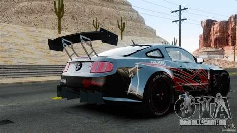 Ford Mustang 2010 GT1 para GTA 4 traseira esquerda vista