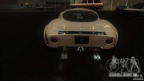 Alfa Romeo Tipo 33 Stradale para GTA San Andreas vista direita