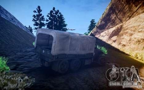 Millitary caminhão de Mafia II para GTA 4 vista direita