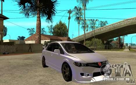Honda Civic Mugen v1 para GTA San Andreas vista traseira