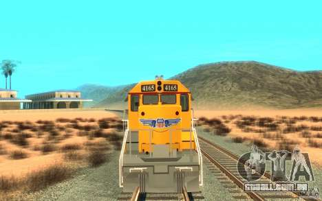 SD 40 Union Pacific Building America para GTA San Andreas esquerda vista