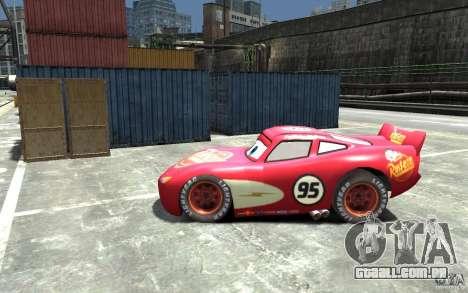 Lighting McQueen para GTA 4 esquerda vista
