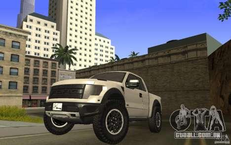 Ford F150 SVT RapTor para GTA San Andreas traseira esquerda vista