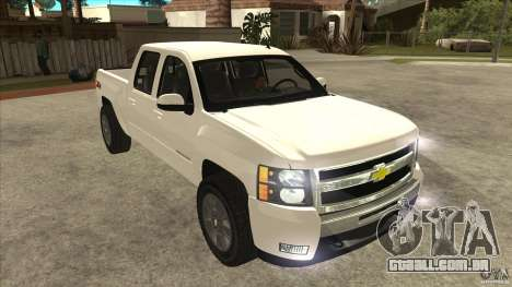 Chevrolet Cheyenne 2011 para GTA San Andreas vista traseira