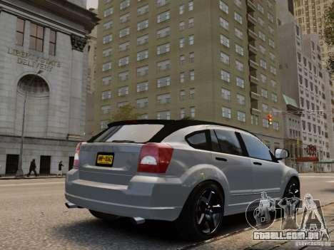 Dodge Caliber para GTA 4 esquerda vista